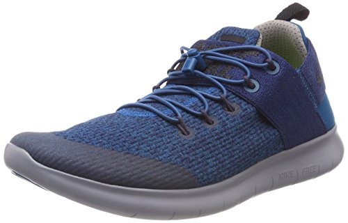 Nike Women's W Free Rn CMTR 2017 Prem Running Shoes, Blue (Green Abyss/Ink/Cobblestone/Black 300), 4.5 UK 38 EU