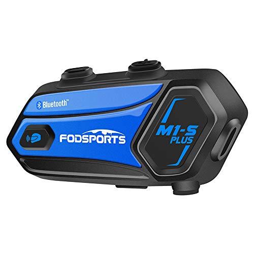 Intercomunicador Casco Moto Música Compartida, M1S Plus Intercomunicador Moto Bluetooth con Cancelación de Ruido, FM, Manos Libres para Moto para 8 Motoristas 1000M Sistemas de Comunicación para Casco