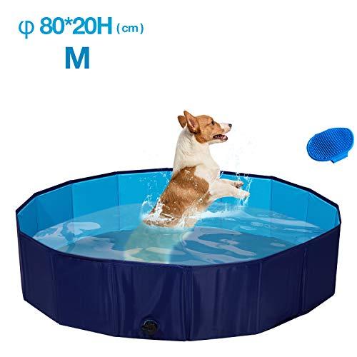 Seekavan Hundepool Swimmingpool für Hunde und Katzen, Hundebadewanne Planschbecken von Haustier Kinder Faltbar rutschfest Verschleißfest 3 Größe
