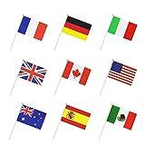 50 Países Internacional Del Indicador Del Mundo Stick, De Mano De La Pequeña Mini Nacional Del...