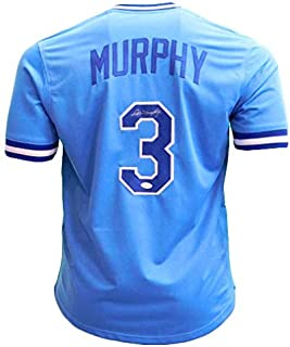 Dale Murphy Signed Autographed Atlanta Braves Light Blue Baseball Jersey - JSA COA