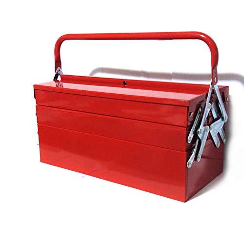 cassetta attrezzi ferro FAST WORLD SHOPPING ® Cassetta Porta Utensili Con 5 Scomparti Cassettiera In Ferro Raccogli Attrezzi Con Manico Per Trasporto