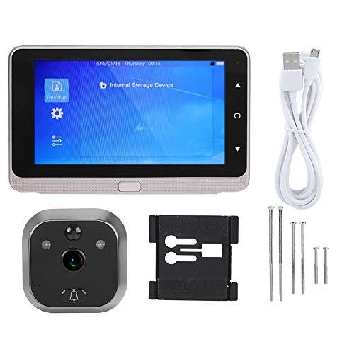 Digitale deurspion, HD 720P 5 inch OLED-scherm, videodeurbel, 1 MP, 160 graden groothoeklaar, deurbel met IR-nachtzicht, fotograferen, bewegingsdetectiefunctie, voor deurdiktes van 40-110 mm