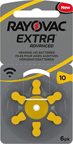 60 Stück (10 Blister) Rayovac Typ 10 Hörgerätebatterie Zinc Air P10 PR70 ZL4 mit 2 Stück LUXTOR® Reinigungstücher für Hörgeräte und Otoplastiken