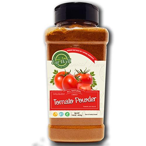 Dried Tomato Powder | 16oz - 453 g - Bulk Spice Quart Jar with Shaker Top | 100% Natural | Tomato Soup | Premium Grade, Freshly Packed
