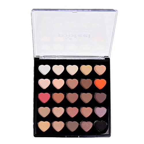 Frcolor 25 couleurs en forme de coeur palette ombre à paupières palette de maquillage longue durée en poudre ombre à paupières (type b)