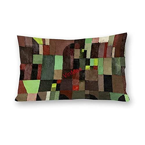VinMea Fundas de almohada lumbar, color rojo y verde, fundas de almohada para sofá, hogar, oficina, decoración, 30,5 x 50,8 cm