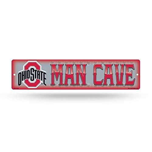 NCAA Rico Industries 16-Inch Plastic Street Sign Décor, Ohio State Buckeyes - Man Cave