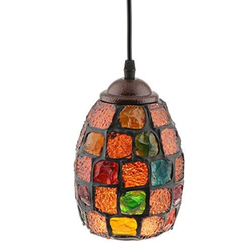 joyMerit Turco Marroquí Mosaico Lámpara Colgante Lámpara Pantalla Artesanía Hecha A Mano - Estilo 1, Individual
