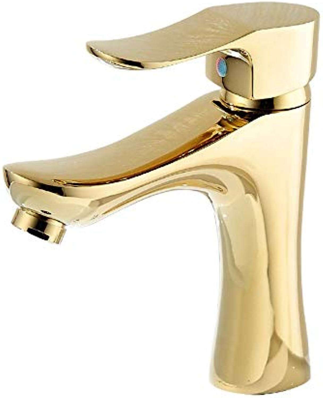 Verchromtes Badezimmer Europische moderne heie und kalte Wasserhahn Waschbecken Wasserhahn