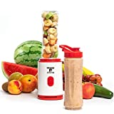 Moss & Stone Personal Blender Single Serve Shake & Smoothies Maker with Portable Travel Sport Bottle...