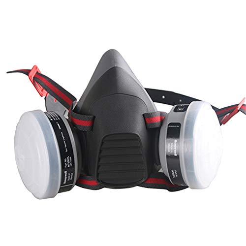 WXYLYF Staubmaske Gemalte Halbmaske Atemschutzmaske Für Chemische Gase Atemschutzmaske Für Pestizide Doppelte Filterung Einstellbare Kopfbedeckung
