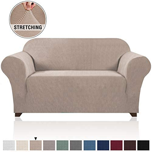 Best Stretch Sofa Slipcover 1 Piece Sofa Cover for 2 Cushion Couch Furniture Protector/Cover Couch with E