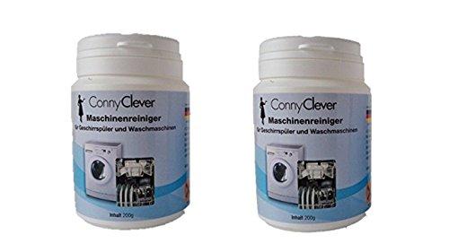 2er Pack Maschinenreiniger Passend für Geschirrspüler, Waschmaschinen 200 g / Spülmaschinengeeignet