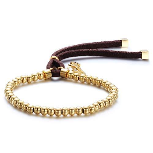 MXH armband titanium staal instelbare lengte sieraden 18 karaat roségoud armband vrouwelijk roestvrij staal parels armband, goud