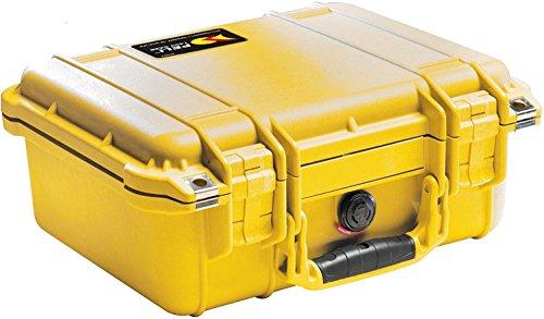 PELI 1500 Maximal Schützender Polypropylen Koffer, IP67 Wasser- und Staubdicht, 19L Volumen, Hergestellt in Deutschland, Ohne Schaum, Gelb
