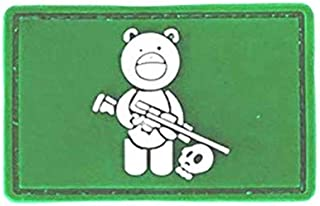 Morton Home Bear Sniper & Hunter Skull 3D PVC Tactical Army Morale Rubber Patch (Green)