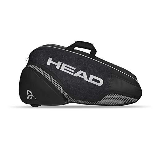 HEAD Djokovic 9R Supercombi - Borsone sportivo classico, 7-9 racchette da tennis, colore: Nero