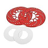 Freno de disco-2Pcs/Set Auto Aluminio Freno de Disco Rotor Recorte Cubiertas Decorativas Retrofit 26cm(Rojo)