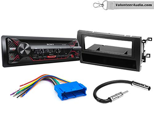 Sony CDX-G1200U Single Din Radio Install Kit With CD Player, USB/AUX, Built-In 16 Band Equalizer Fits 1997-2001 Cadillac Catera