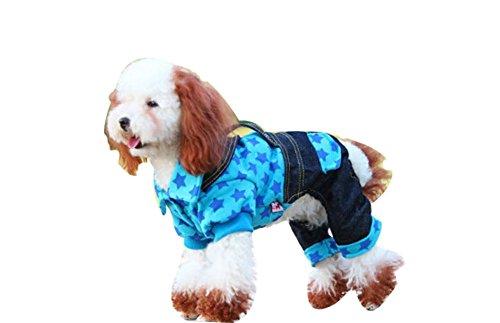 confortable d'hiver pour chien pour animal domestique Vêtements (Bleu, Taille : XS)