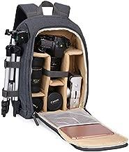 G-raphy Camera Backpack Photography DSLR Camera Bag Waterproof with Laptop Compartment/Tripod Holder for DSLR SLR Cameras (Khaki)