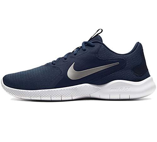Nike Men's Flex Experience Run 9 Shoe, Obsidian/Metallic Cool Grey-Black, 9.5 4E US