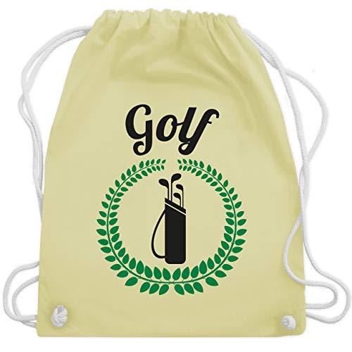 Shirtracer Golf - Lorbeerkanz Golftasche - Unisize - Pastell Gelb - Gewinner - WM110 - Turnbeutel und Stoffbeutel aus Baumwolle
