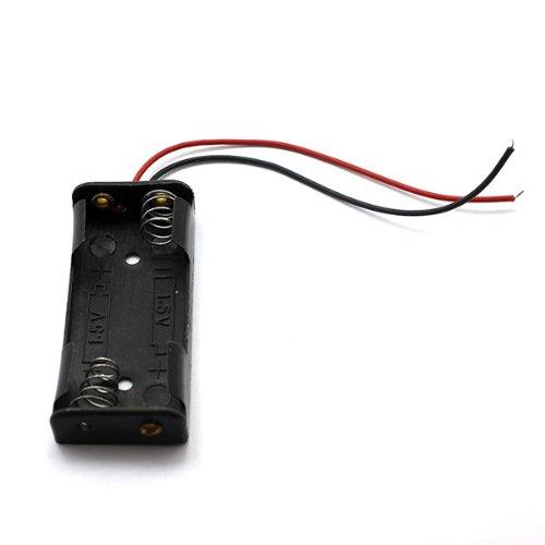 Generic 2 AAA batterie de support de caisse noir(5 d'emballage)