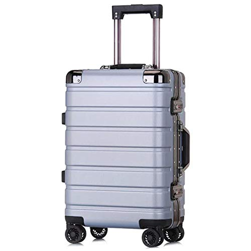 K-ONE 20' 24inch frame trolley suitcase travel carry on rolling luggage spinner on wheels boarding case,light grey,24' Fashion trend