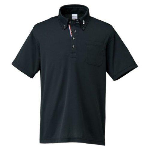 [コンバース] バスケットボール シャツ ボタンダウンシャツ 吸汗 速乾 CB231402 メンズ ブラック 日本 S (日本サイズS相当)