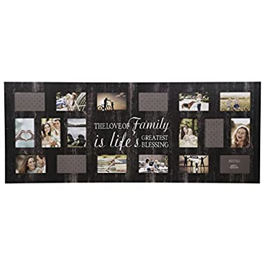 Gallery Solutions Rustic 21 Opening Distressed Family Collage Frame