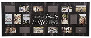 Gallery Solutions 16FW1375E Rustic Wood Plank Family Wall Hanging Picture Holds 18 4  x 6  Photos Collage Frame