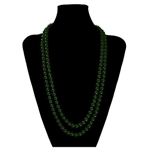 SoulCats Eine süße Kette Perlenkette Perlen viele Farben XXL lang pink blau Creme, Farbe:grün;Kettenlänge:148 cm