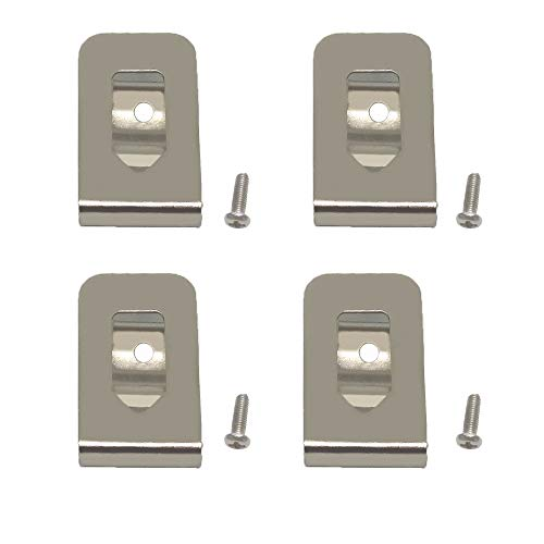 SKCMOX Replacement Belt Clip Hook for Dewalt N268241 Fit for 20V Max Tools DCD980 DCD985 DCD980L2 DCD985L2 (4 Pack)
