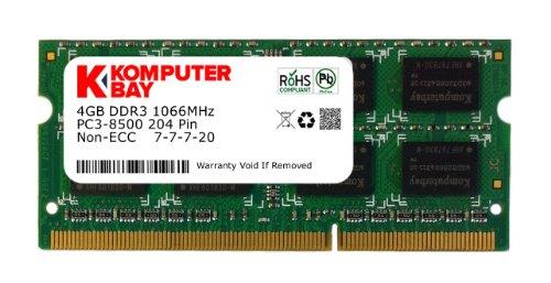 Komputerbay SODIMM 4GB DDR3 (204 pin) mit Hynix Semiconductors 1066Mhz PC3 8500 4 GB mit SODIMM Kühlkörper für zusätzliche Kühlung (7-7-7-20) gemacht