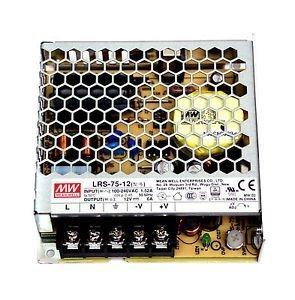 KingLed - MeanWell Alimentatore LRS-75-12 Potenza Max 72W DC 12V IP20 Trasformatore Mean Well per Led - COD. 1992