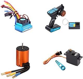 JVSISM Brushless Upgrade Kit Motor ESC Receiver Remote Controller Servo Set for WLtoys 144001 A959-B A979-B RC Car Spare Parts