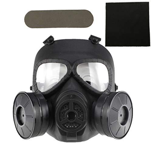 FOJMAI Taktische Paintball Airsoft Maske Sport Herren Damen Softair Ausrüstung Maske mit ventilator Schutzmaske für CS BBs Game Halloween