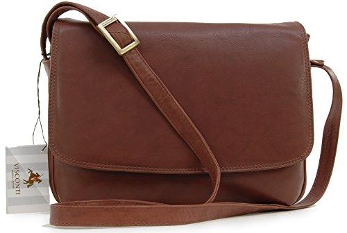 Visconti Leather Organiser Flapover Handbag / Cross-Body Bag 03190 Claudia