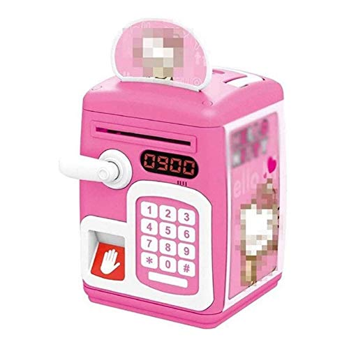 Mortero y Maja Juegos de mortero y mano Creative FingerPrint Password Electronic Coin Bank, Smart Electronic Piggy Bank, Caja fuerte con contraseña, Juguetes educativos para niños Decoración del hogar