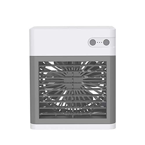 xingdong Ventilador de escritorio portátil USB, ventilador de mesa, aire acondicionado personal, mini refrigeradores evaporativos, humidificador para casa, oficina, viajes, dormitorio, niños y adultos