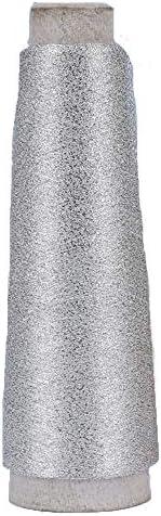 3270 Yards 100g Accessory Lurex Yarn Silver Sparkle Yarn Metallic Yarn Shining Glitter Yarn product image