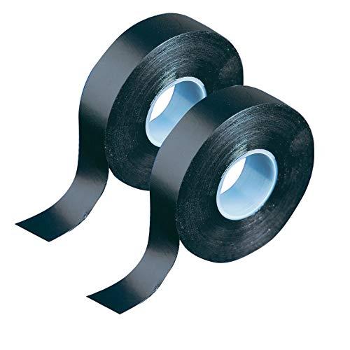 GTSE Schwarzes selbstverschweißendes Gummiband, 1,9 cm x 10 m, selbstverschweißendes wasserdichtes Klebeband für Rohre, Gelenke und elektrische , 2 Rollen