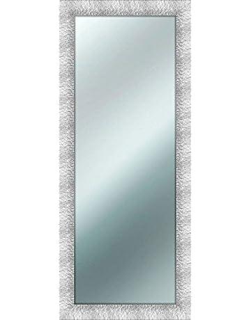 per camera da letto angolo arrotondato cornice in legno Specchi da Terra a Inclinazione Regolabile Specchi da Parete Specchio Lungo Specchoiera da Pavimento 160 x 37 cm Bianco soggiorno