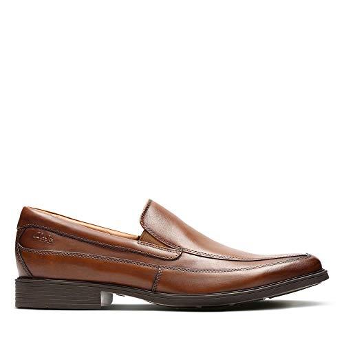 Clarks Herren Tilden Free Slipper, Braun (Dark Tan Leather), 46 EU