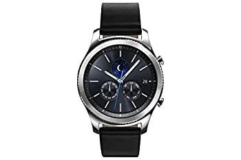Samsung Gear S3 Classic Smartwatch 4GB SM-R770 with Leather Band  Silver  Tizen OS - International Version with No Warranty