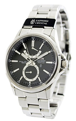 Orient #FFM01002B Men's Conductor Stainless Steel Date Sub Dial Power Reserve Automatic Watch