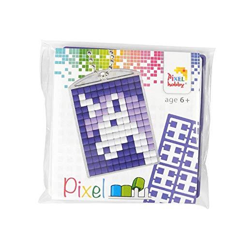 Pracht Creatives Hobby P23028 Pixel Set Medaillon Einhorn, Schlüsselring, Anhänger, für Kinder, Jungen und Mädchen, ideal als kleines Geschenk, Mitgebsel, für den Kindergeburtstag