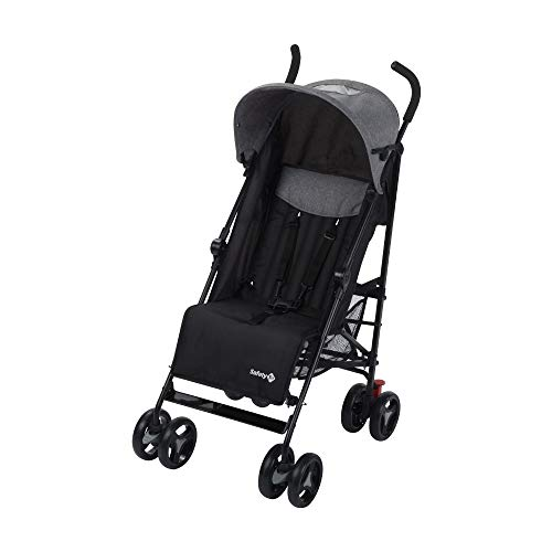 Safety 1st Rainbow Silla de Paseo ultraligera pesa solo 6,6 kg, Plegable y compacta, Reclinable de multi posiciones, reposapies adjustable, color black Chic
